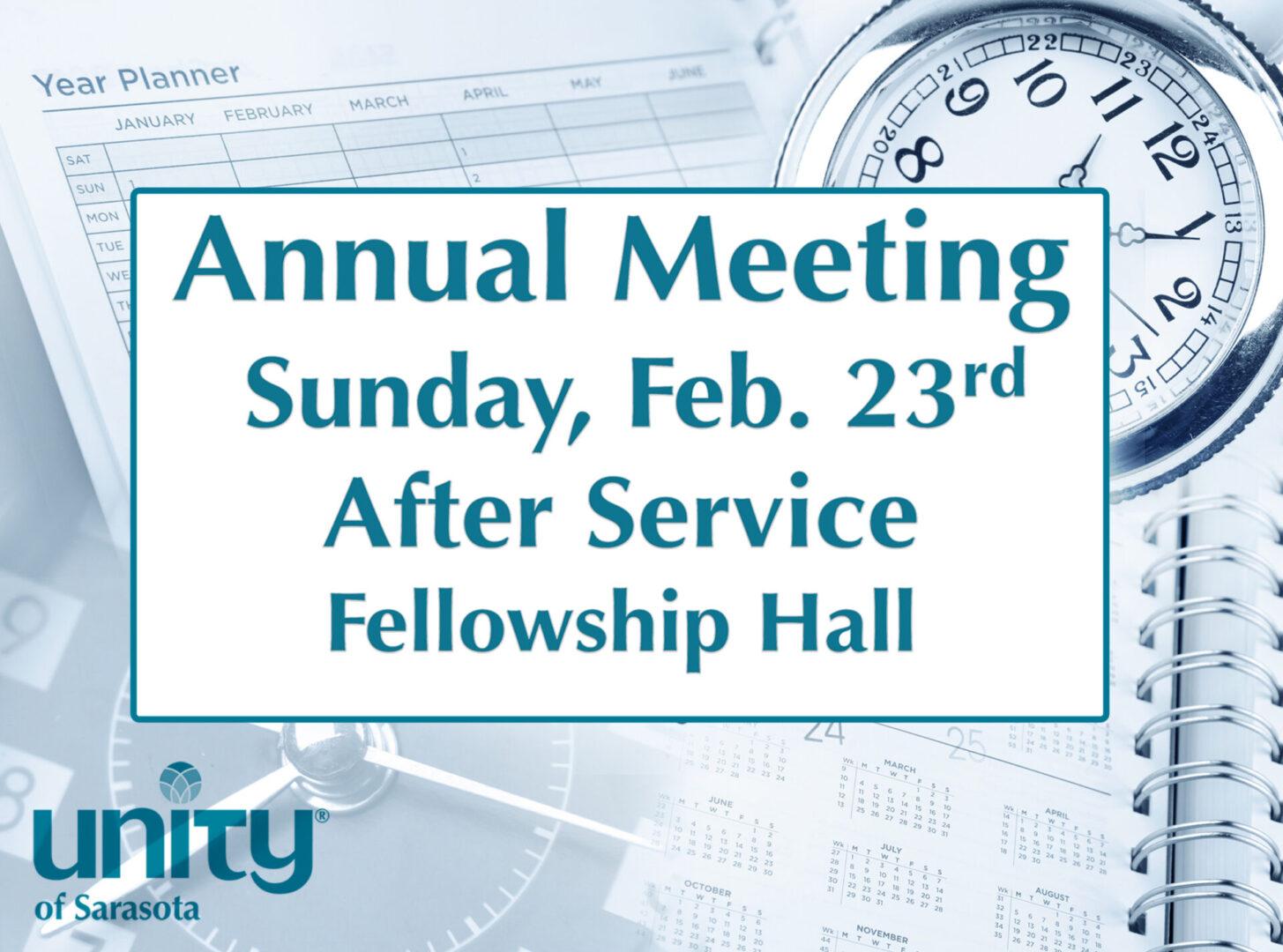 Annual Meeting 2020 at Unity of Sarasota