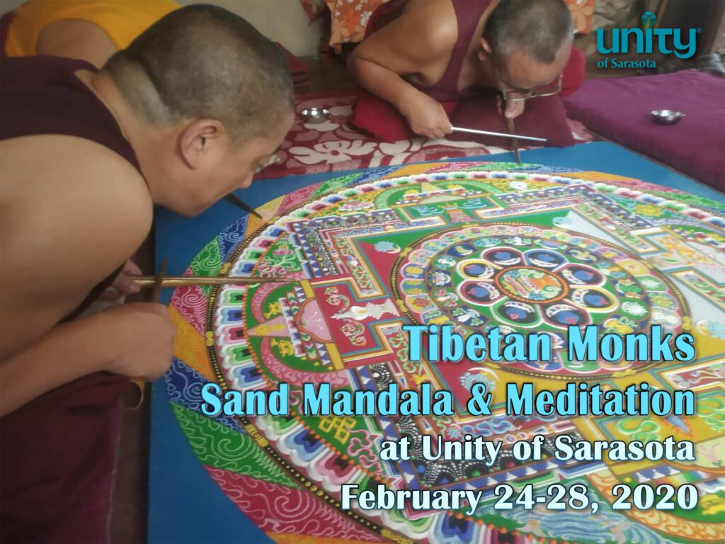 Tibetan Monks Sand Mandala & Meditation at Unity of Sarasota