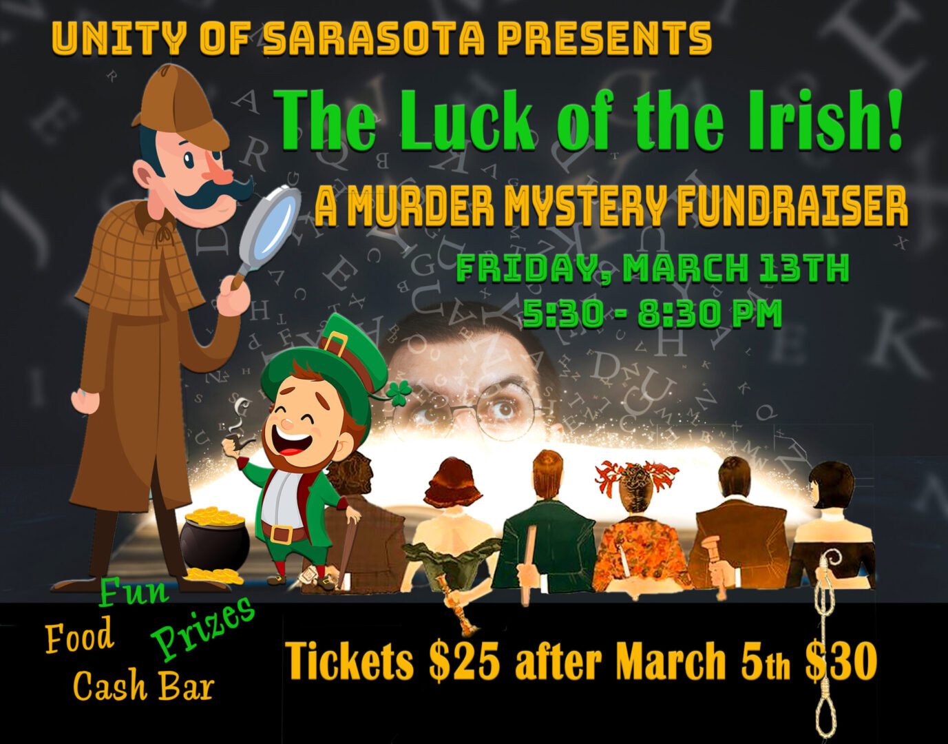 The Luck of the Irish Murder Mystery Fundraiser at Unity of Sarasota