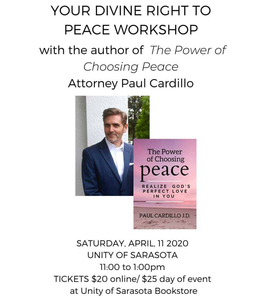 Your Divine Right to Peace Workshop with Paul Cardillo