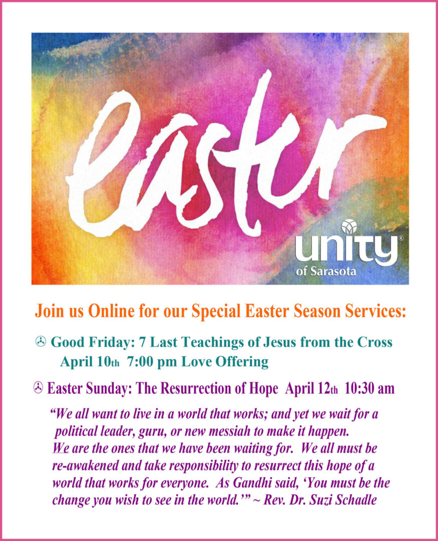Easter Services at Unity of Sarasota