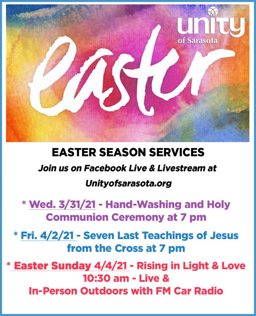 Easter Season Services at Unity of Sarasota 2021