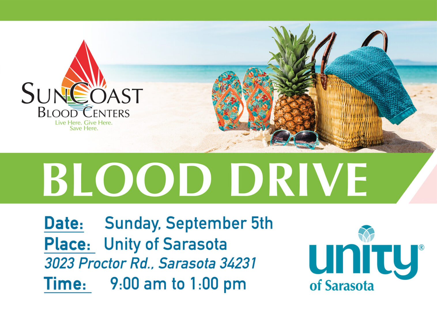 SunCoast Blood Drive at Unity of Sarasota