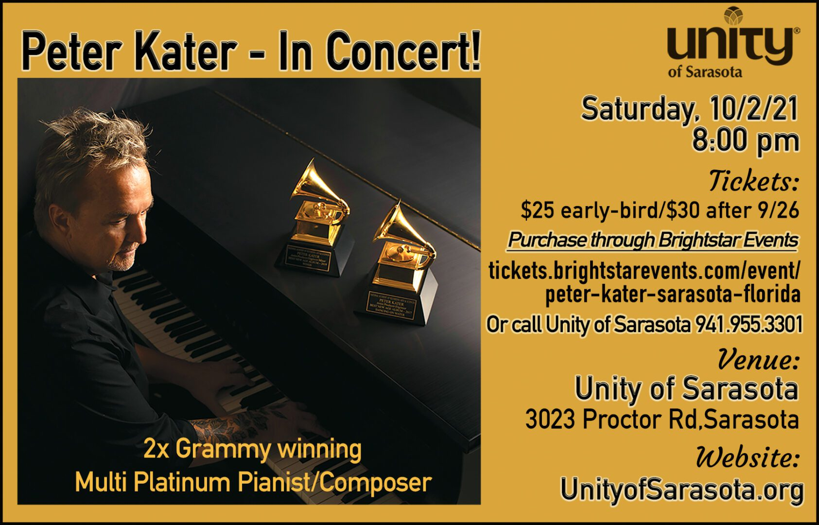 Peter Kager Live in Concert at Unity of Sarasota