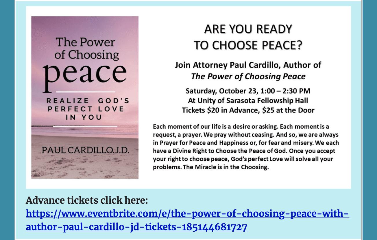 The Power of Choosing Peace